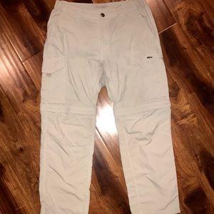 Columbia Omni-Shade convert men's shorts pants 34